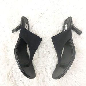 Steve Madden Black Mesh Thong Sandals Size 7